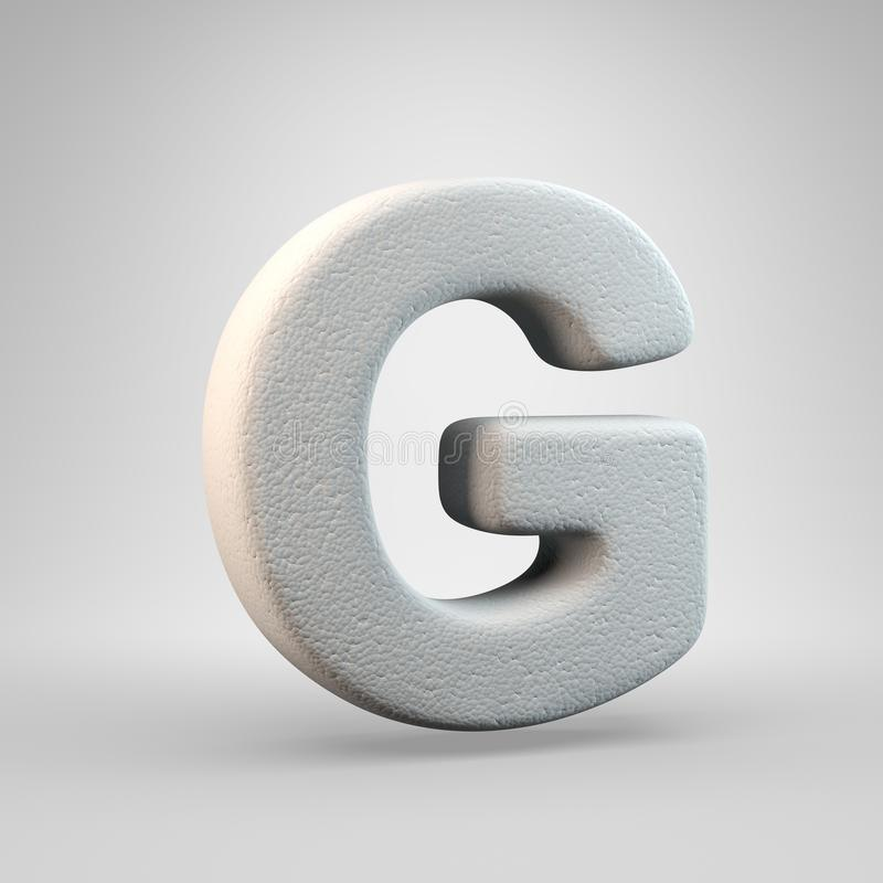 Volumetric construction foam uppercase letter G isolated on white background. 3D rendered alphabet. Modern font for banner, poster, cover, logo design template stock illustration