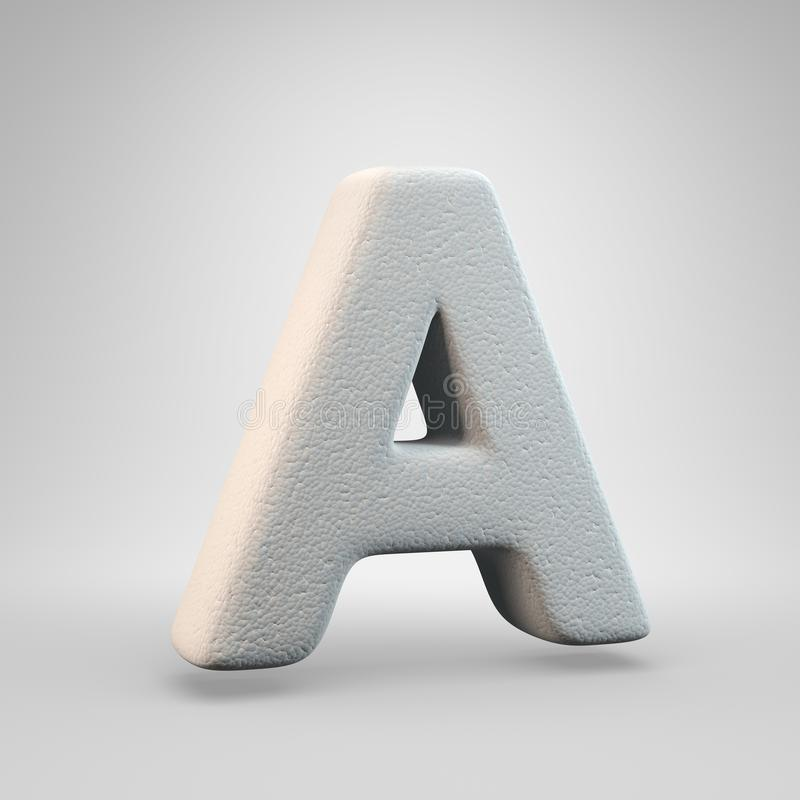 Volumetric construction foam uppercase letter A isolated on white background vector illustration