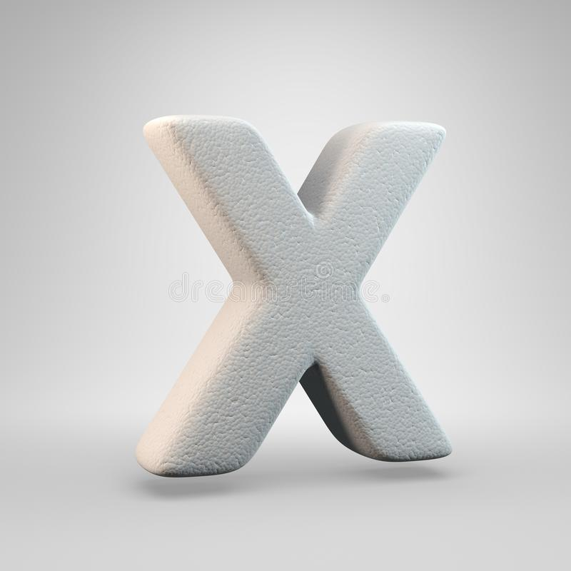 Volumetric construction foam uppercase letter X isolated on white background stock illustration