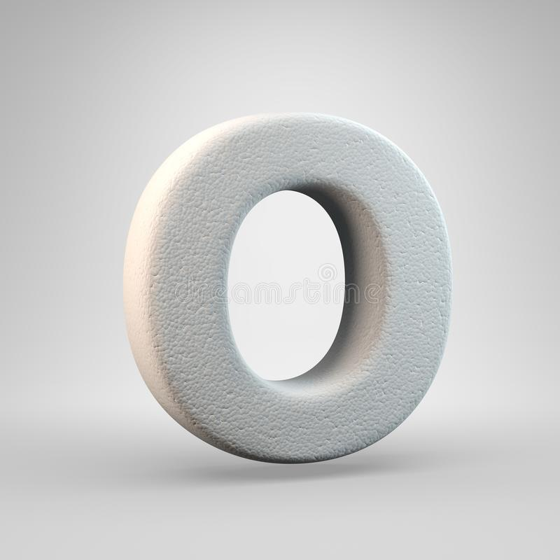 Volumetric construction foam uppercase letter O isolated on white background stock illustration