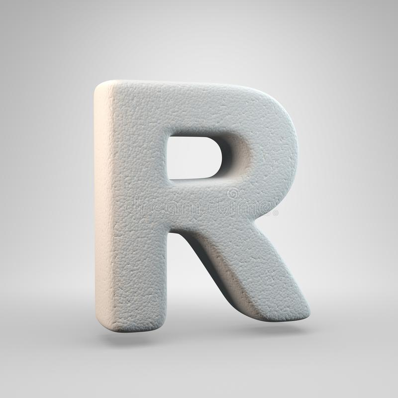 Volumetric construction foam uppercase letter R isolated on white background stock illustration