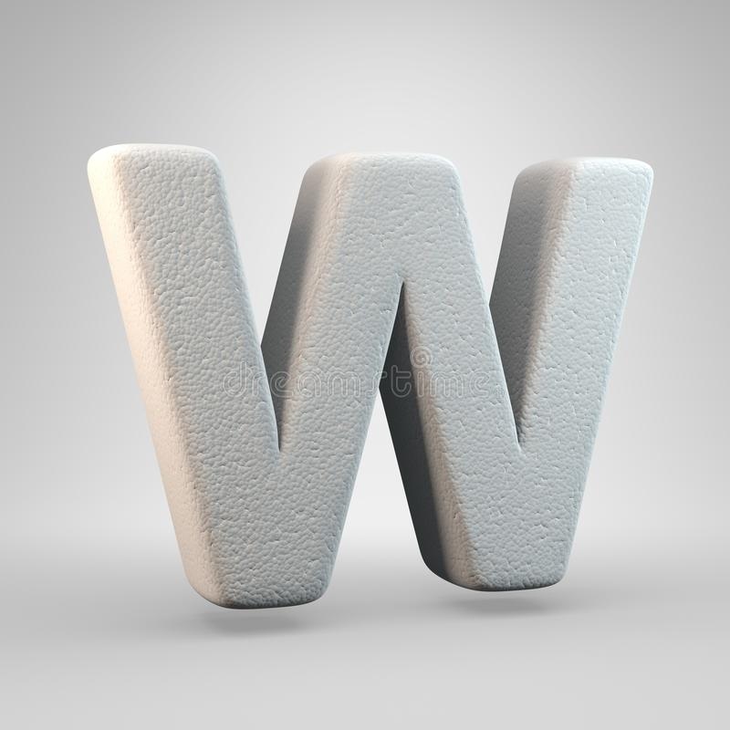 Volumetric construction foam uppercase letter W isolated on white background royalty free illustration