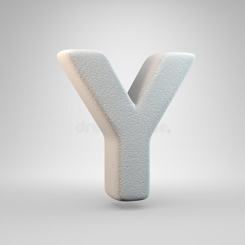 Volumetric construction foam uppercase letter Y isolated on white background vector illustration