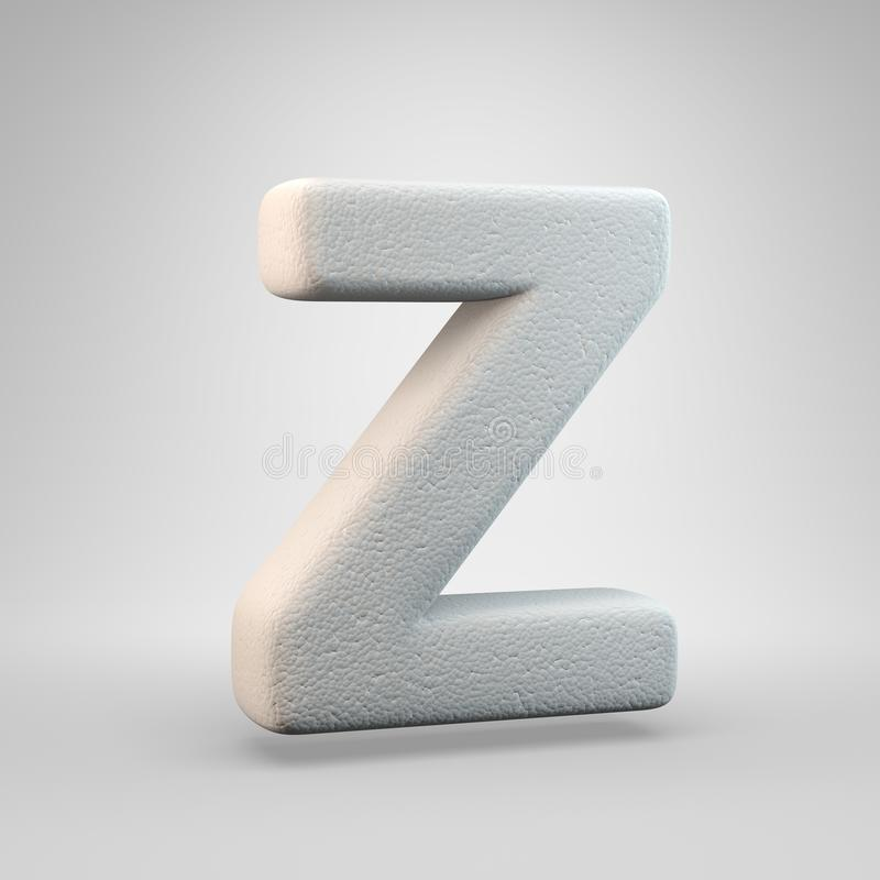 Volumetric construction foam uppercase letter Z isolated on white background vector illustration