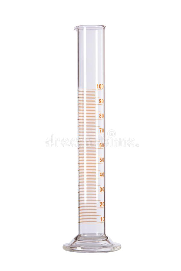 Volumetric flask with a capacity of 1 00 milliliters. royalty free stock image
