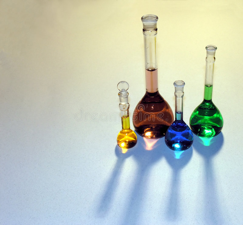 Free Volumetric Flasks Royalty Free Stock Photography - 40077