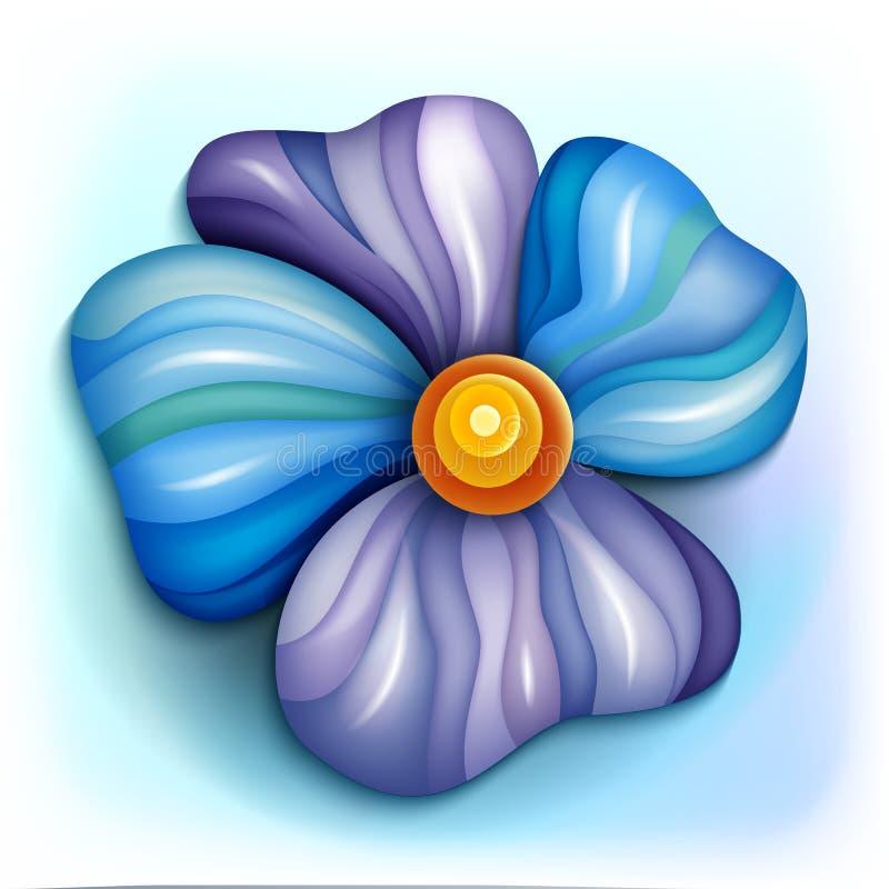 Volumetrische abstracte fantastische kleurrijke bloem vector illustratie