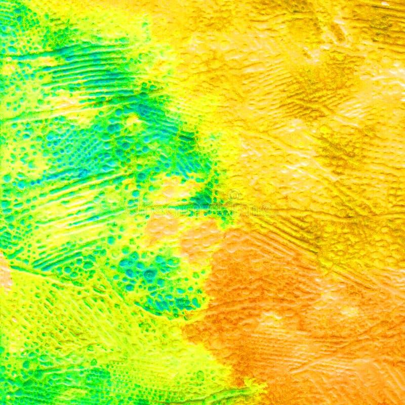 Volumetrische Beschaffenheit des Aquarells f?r den Hintergrund Fr?hling Herbst Abstrakte Fersenfarben und -flecken Farbe f?llt stock abbildung