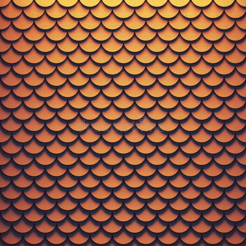 Volumetrische geometrische achtergrond van metaalschalen stock illustratie
