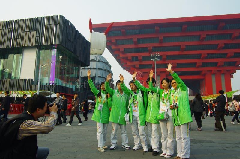 Voluntários em Shanghai Expo2010 China foto de stock