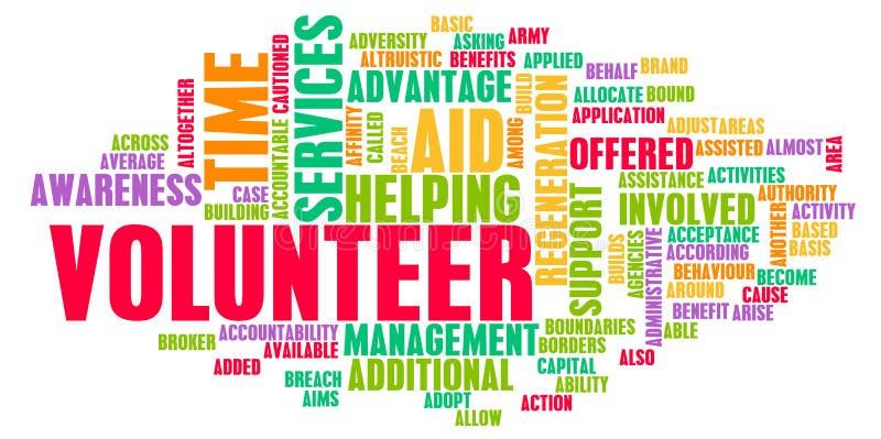 Voluntario stock de ilustración