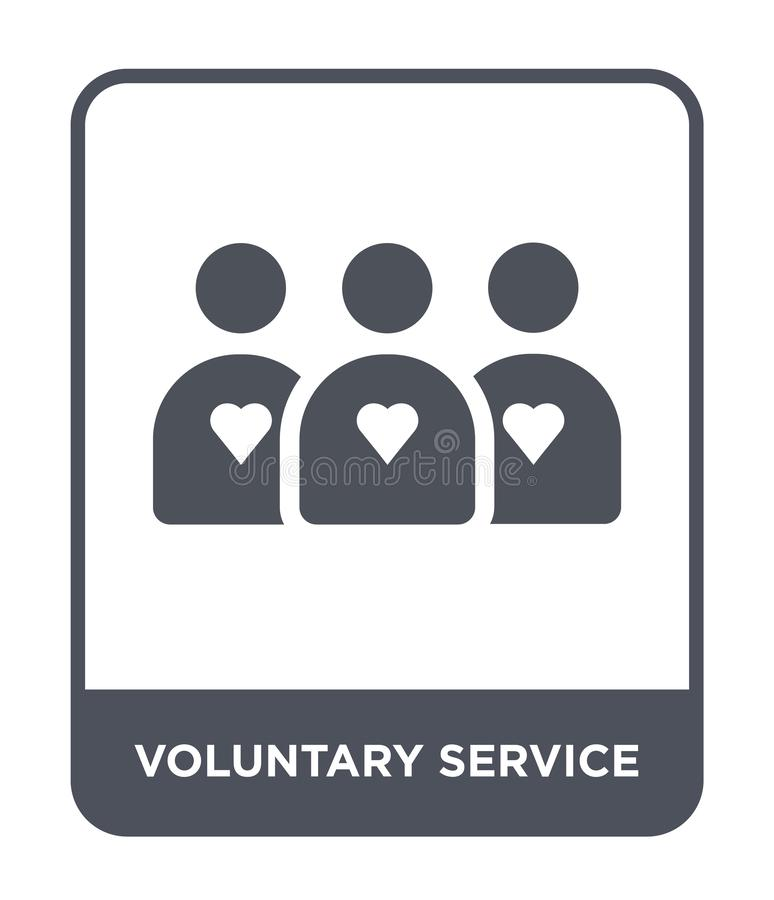 Voluntary service icon in trendy design style. voluntary service icon isolated on white background. voluntary service vector icon. Simple and modern flat symbol stock illustration