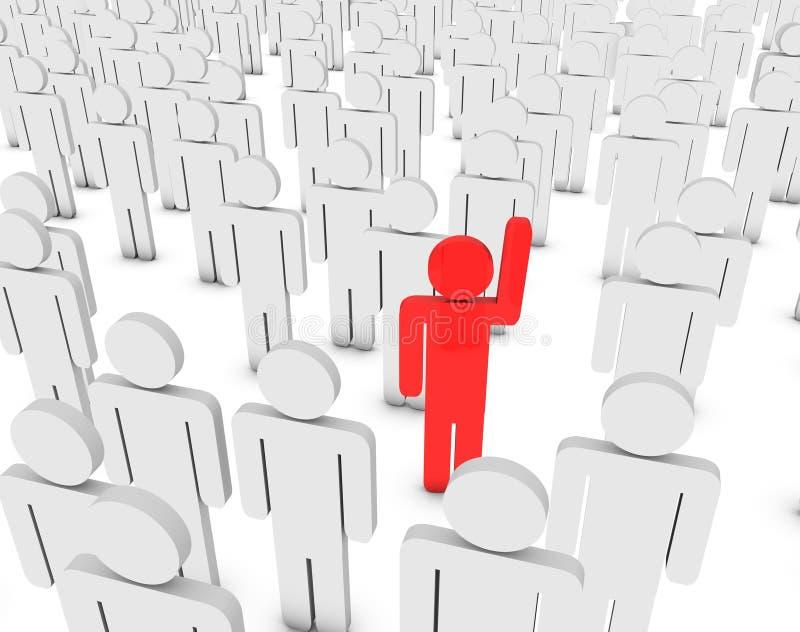 Download Volunteer stock illustration. Image of teamwork, success - 14584682