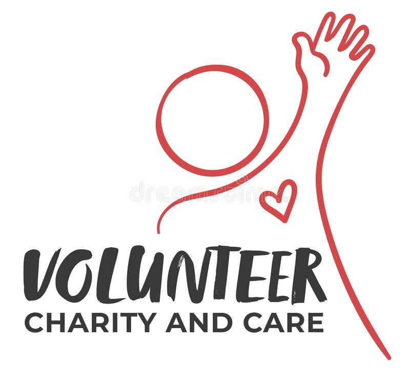 Free Volunteer Charity And Care, Minimalist Emblem Royalty Free Stock Photo - 214063965