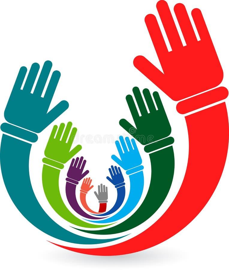 Volunteer hands stock illustration