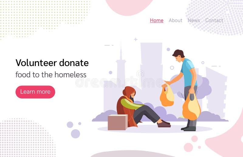 Volunteer people doing charity activities vector illustration royalty free illustration