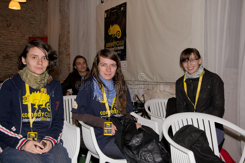 Download Volunteer Team Of Comedy Cluj Festival Editorial Photo - Image: 27096966
