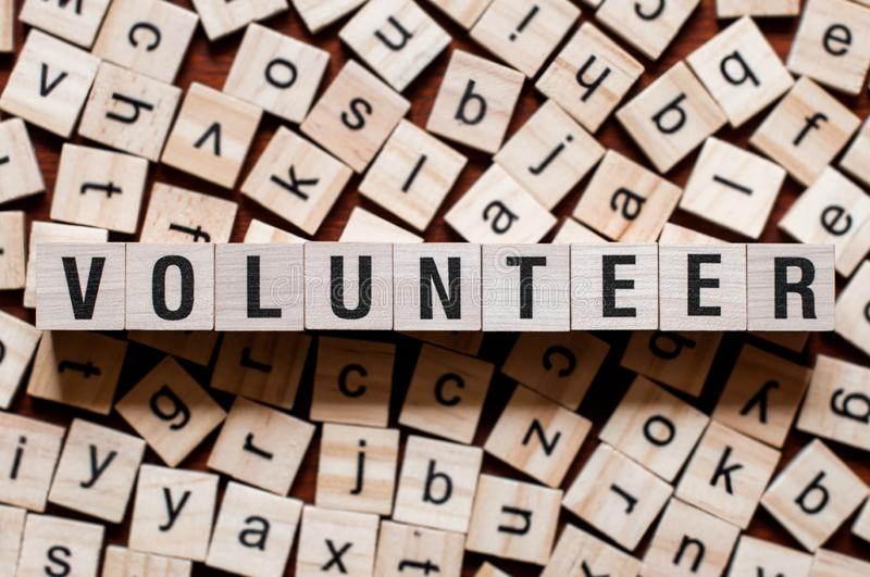 Volunteer word concept stock photo