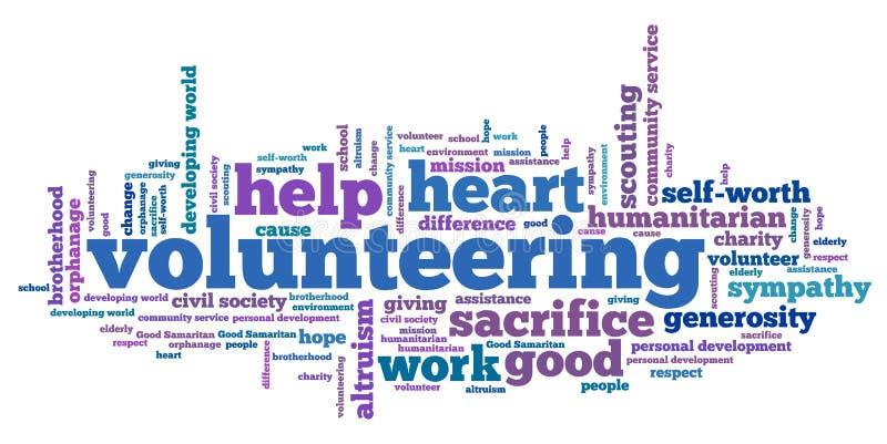 Volunteering stock illustration