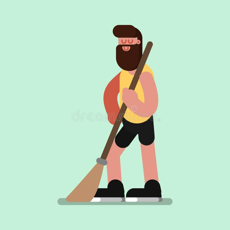 Voluntire clean up the streets. Vector illustration, EPS 10 stock illustration