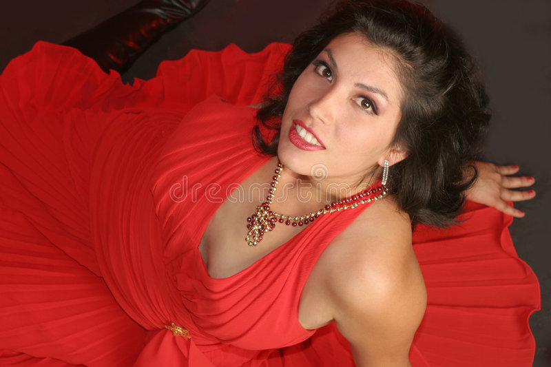 Download Voluptuous Girl In Red Stock Photos - Image: 180543