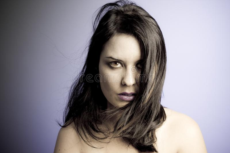 Voluptuous look of brunette young woman