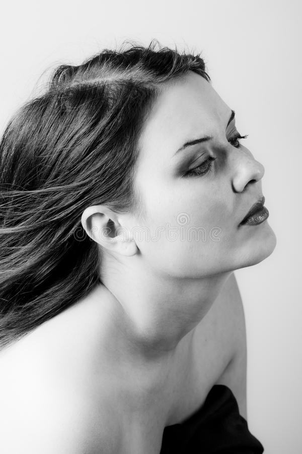 Download Voluptuous Look Of Brunette Young Woman. Stock Photo - Image: 16168648
