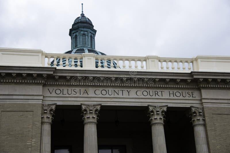Volusia County domstolsbyggnad i DeLand Florida royaltyfri foto