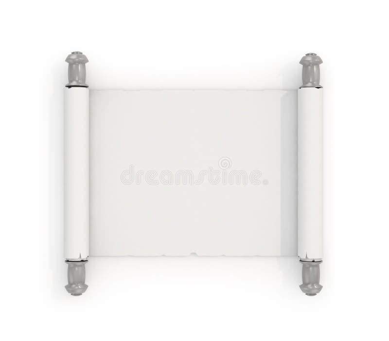 Voluta blanca, aislada en el fondo blanco stock de ilustración