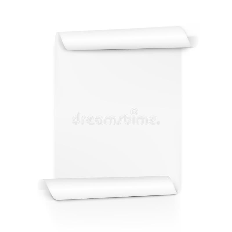 Voluta clara del Libro Blanco Rollo de la hoja en ambos lados stock de ilustración