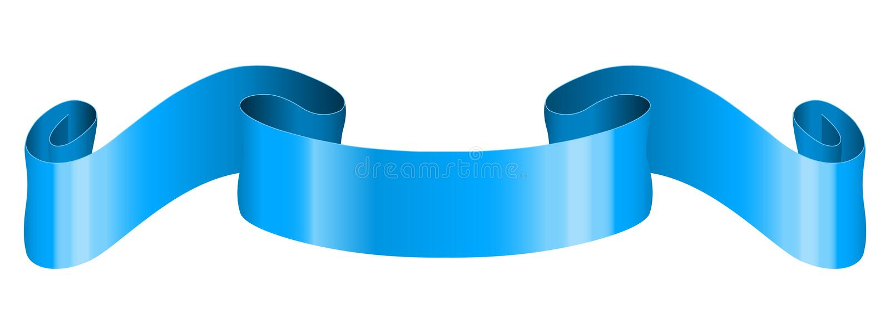 Voluta de Blue Ribbon stock de ilustración