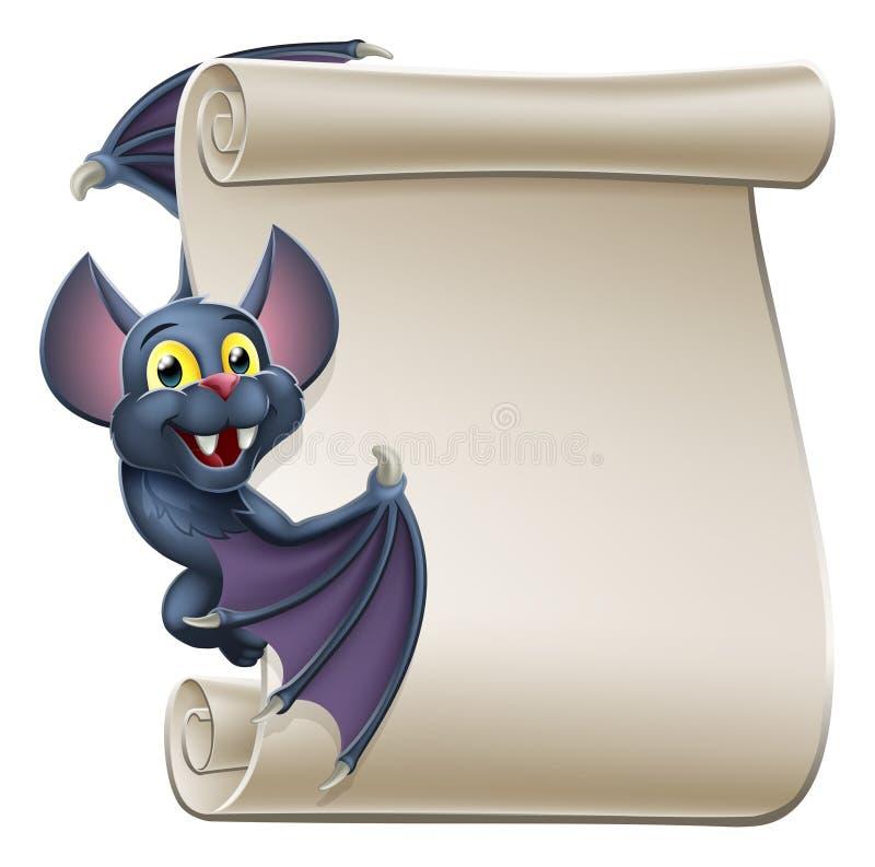 Voluta del personaje de dibujos animados del palo de vampiro de Halloween ilustración del vector