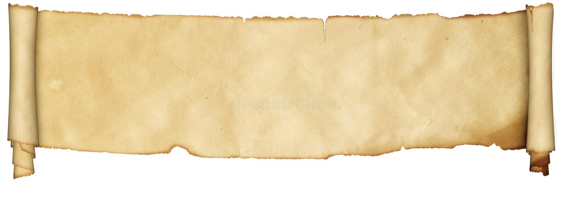 Voluta medieval del pergamino foto de archivo libre de regalías