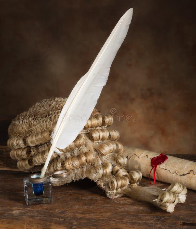 Voluta y peluca de la canilla foto de archivo libre de regalías