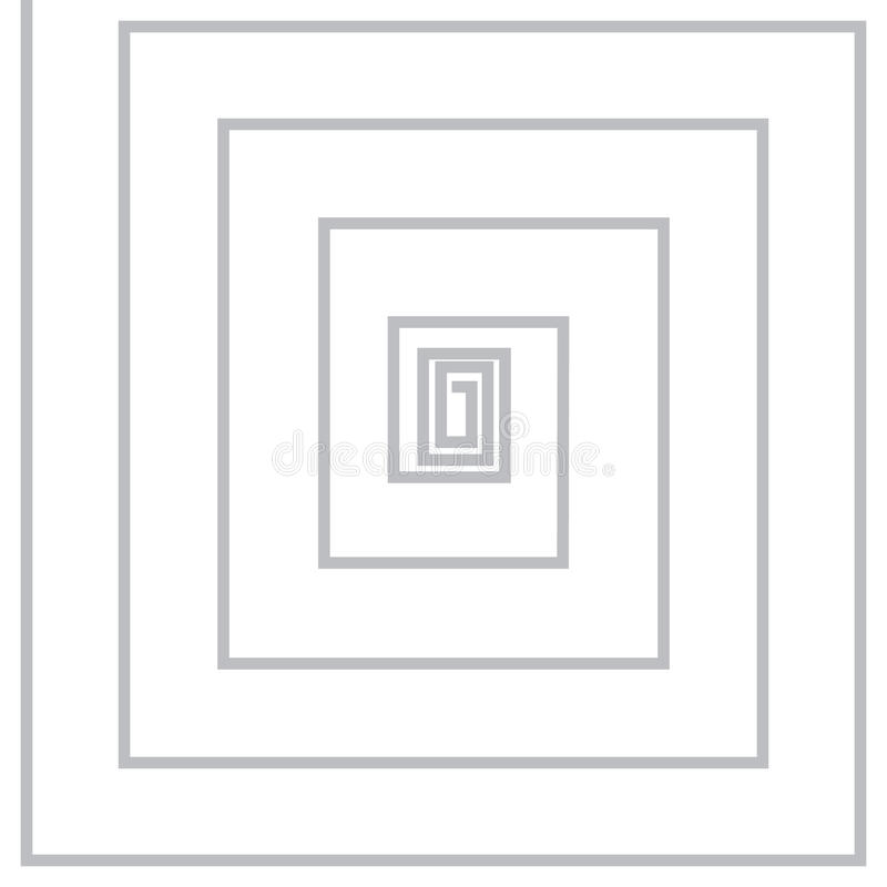 Volute, spiral, concentric lines, circular, rotating background stock illustration
