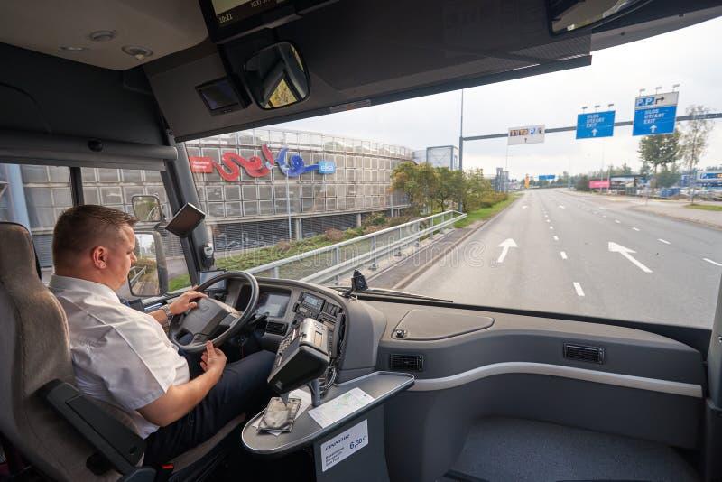 Volvo-bus stock fotografie