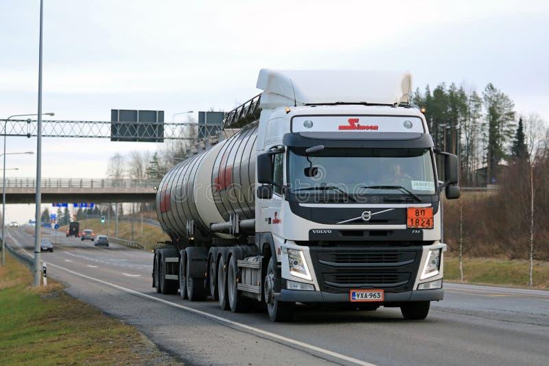 Volvo FM tank truck in ADR transport royalty free stock photo