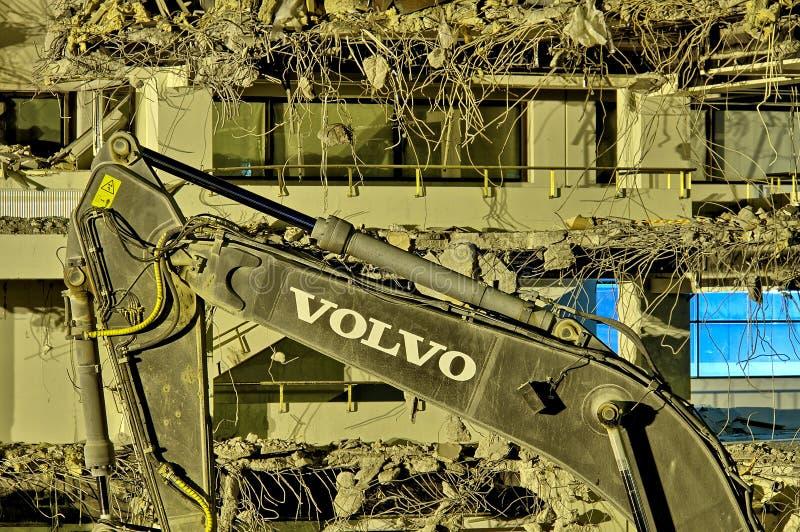 Volvo grävskopa royaltyfri bild