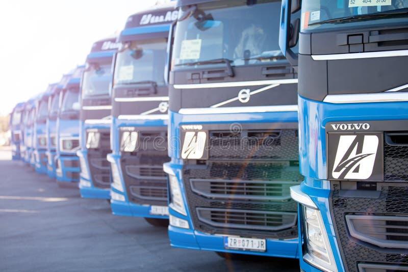 Volvo lastbilar royaltyfria foton