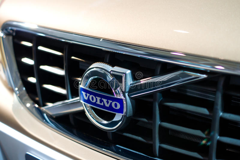 Volvo logo royalty free stock photo