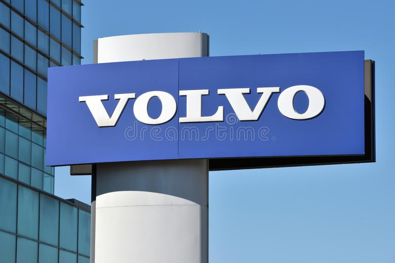 Volvo logotypu znak zdjęcia royalty free