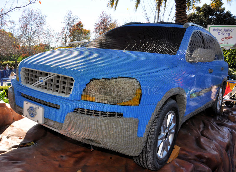 Volvo made with Lego blocks stock images