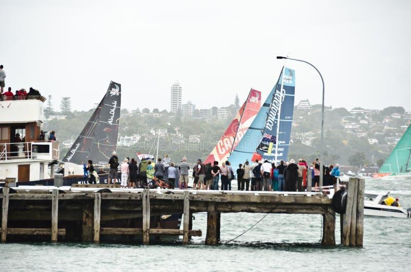 Volvo Ocean Race.Auckland stopover. stock photo