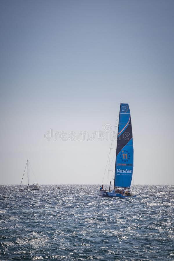 Volvo Ocean Race, October 22th 2017 in the harbour of Alicante in Spain royalty free stock images