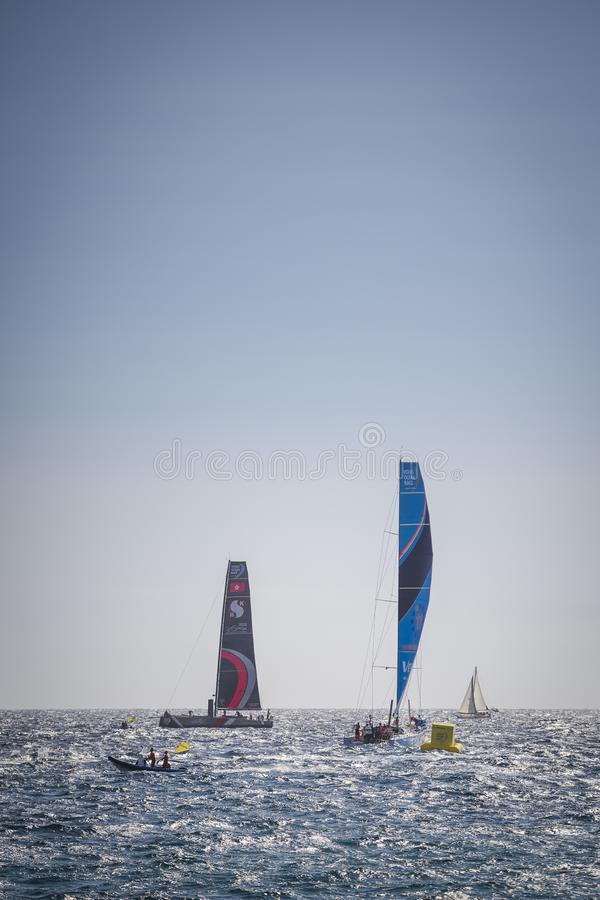 Volvo Ocean Race, October 22th 2017 in the harbour of Alicante in Spain stock image