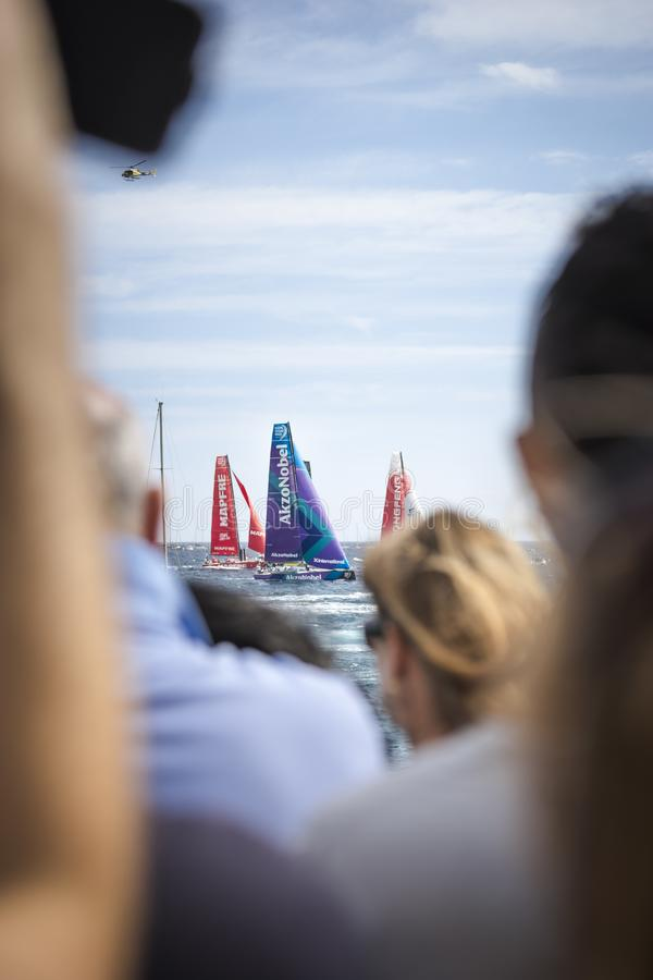 Volvo Ocean Race, October 22th 2017 in the harbour of Alicante in Spain stock photos
