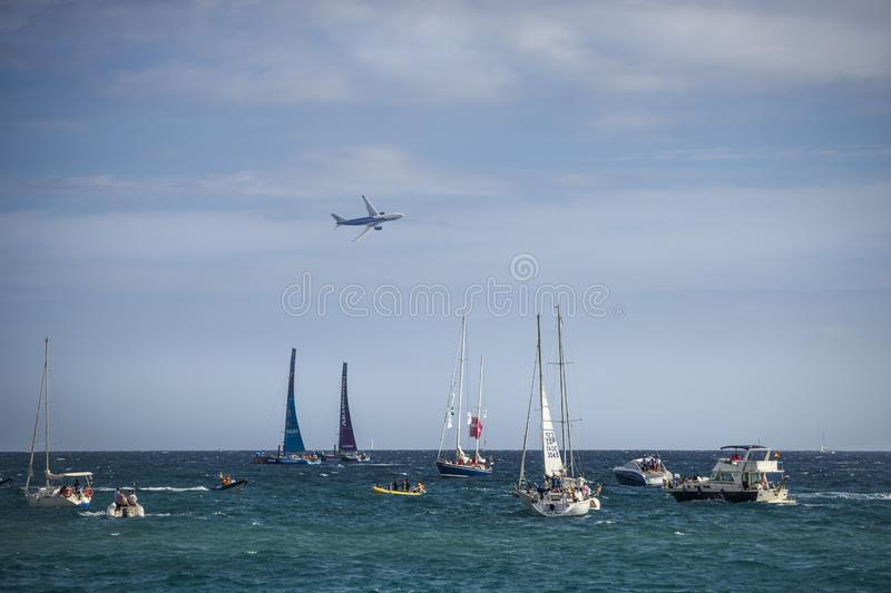 Volvo Ocean Race, October 22th 2017 in the harbour of Alicante in Spain royalty free stock image