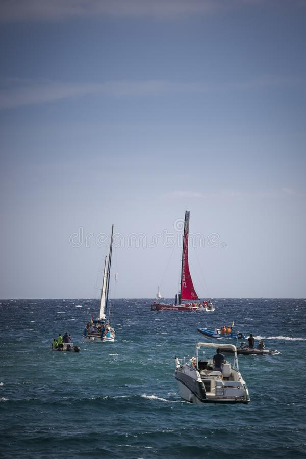 Volvo Ocean Race, October 22th 2017 in the harbour of Alicante in Spain royalty free stock photos