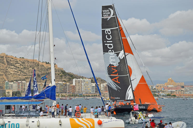 Volvo Ocean Race 2014 - 2015 Team Alvimedica stock photos