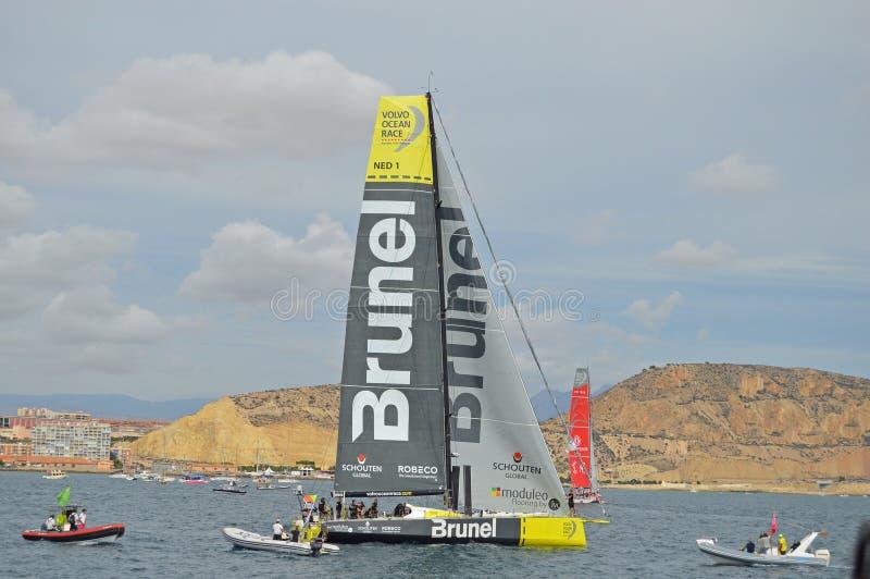 Volvo Ocean Race 2014 - 2015 Team Brunel royalty free stock images